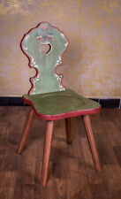 Voglauer Anno 1800 Old Green Cottage Furniture Wood Chair Old Antique Style