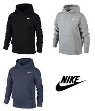 Nike Boys Swoosh Junior Fleece Hoodie Hoody Sweatshirt Sweater Hooded Top