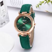 Women's Casual Watch PU Leather Band Quartz Watch Analog Colorful Wristwatch