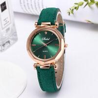 Women's Casual Watch PU Leather Band Quartz Watch Analog Colorful Wristwatch