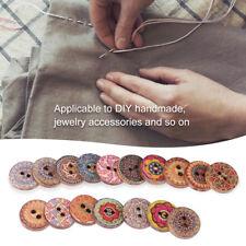 Set of 100pcs Mix Big Wood Buttons Decorative Vintage Patchwork DIY 2-Hole 2.5cm