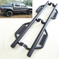 """For 2005-2017 Toyota Tacoma Crew Cab 4D Texture Black 3"""" Side Step Bar Drop Step"""