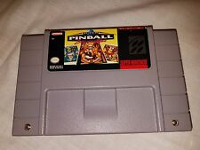 SUPER PINBALL BEHIND THE MASK  SUPER NINTENDO SNES Clean tested