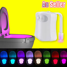 8 Colors Bathroom LED Toilet SeatNight Auto Light Motion Activated Sensor Lamp