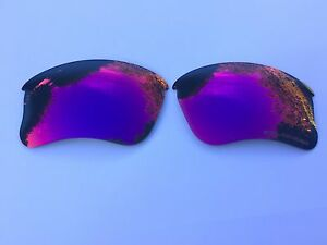 ETCHED POLARIZED BLUE RED MIRRORED REPLACEMENT LENSES FOR OAKLEY FLAK JACKET XLJ