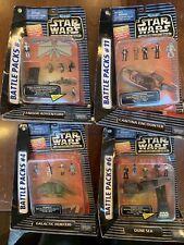 Star Wars Action Fleet Micro Machines Battle Pack #4 6 9 11 Lot of 4