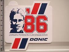 Aufkleber Sticker Jörgen Persson Europameister 1986 Tischtennis Donic (2367)