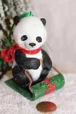 """Danbury Mint """"Panda"""" from The Baby Animal Ornaments Christmas Collection"""