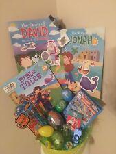 Christian Religious Easter Basket Cross Bible Noahs Ark Egg Story Of David Jonah
