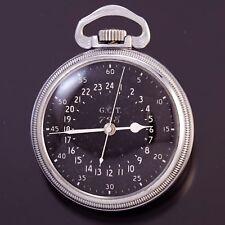 Hamilton 4992B Railroad Pocket Watch Ca1942 | 16 Size Military Case, 22 Jewel Mo