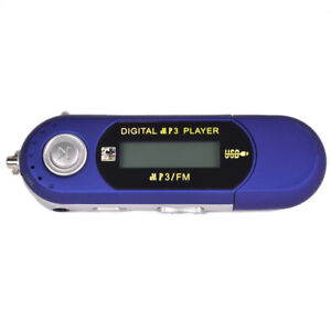 8GB MP3 USB Music Player with LCD Screen FM Radio Voice Recorder Blue