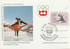 1964 Austria card - 9th Winter Olympic Games Innsbruck - Ice Stadium
