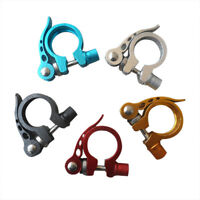 Bike Bicycle BMX MTB Quick Release Seat Post Anodised Alloy Clamp 28.6 mm
