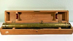 ANTIQUE Brass Dr. Steeg & Reuter? Germany Early Rangefinder Telescope Spy -NICE!