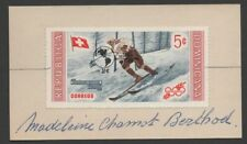 Switzerland skier Madeleine Berthod autograph on Dominican Republic Scott 504