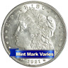 1921 P D or S  $1 Morgan Silver Dollar About Uncirculated AU