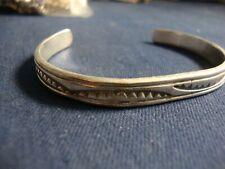 Silver Old Pawn Chunky Bracelet Navajo Native American 925 Sterling