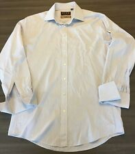 """Thomas Pink Mens L/S Shirt Imperial Slim Fit 170s Striped French Cuff 15""""/38cm"""