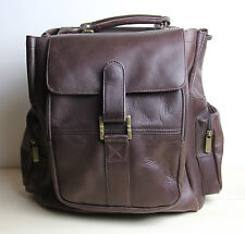 Vintage COLOMBIA Brown Leather Backpack Bag