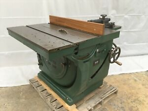 """Oliver 16"""" Sliding Table Saw, Model 260, Twin 5-hp Motors, Rack and Pinion"""