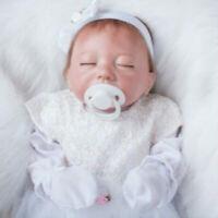 "20"" Reborn Baby Doll Newborn Sleeping Silicone Vinyl Lifelike Kids Accompany Toy"