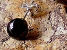SINGLE STERLING SILVER  6mm BLACK ONYX BALL SHAPED STUD EARRING £4.50  NWT