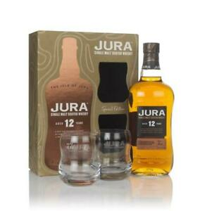 Jura 12 Year Old Gift Pack with 2x Glasses Single Malt Whisky 70cl