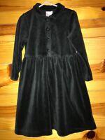 Hanna Andersson Girls Black Velour Dress Size 100  4 / 4T