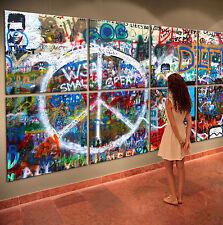 REAL JOHN LENNON WALL Leinwand Bilder Bild Pop Street Art Kunstdruck Leinwand