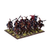 Kings of War 10 Undead Revenant Cavalry regiment - unboxed Mantic black knight