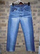 "Da Uomo Vintage Blu Sbiancato Levi 501 jeans Levi Strauss & Co 34"" Girovita"