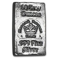 10 oz Silver Bar - Monarch Precious Metals - SKU #103130