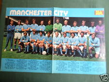 MANCHESTER CITY  TEAM  - CENTREFOLD PICTURE  - MAGAZINE CLIPPING /CUTTING-#3