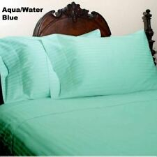 BED SKIRT AQUA STRIPED SELECT DROP LENGTH ALL US SIZE 1000 TC EGYPTIAN COTTON