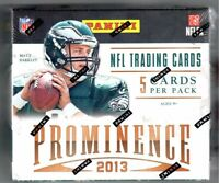 2013 Panini Prominence Football Hobby Box NEW FACTORY SEALED