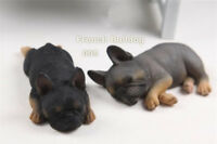 Resin DOG French Bulldog Hand Painted simulation Figurine Statue A pair