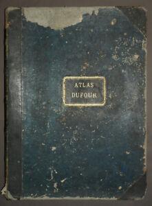 H. DUFOUR ATLAS ANCIEN UNIVERSEL PHYSIQUE, HISTORIQUE ET POLITIQUE antic old map