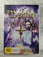 Merlin The Return Magic Will Conquer All - DVD - ALL REGIONS - RARE