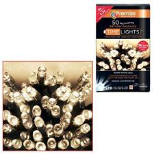 Premier 50 Christmas Battery Timer LED Lights Indoor or Outdoor - WARM WHITE