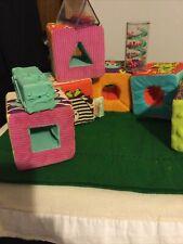 Baby Squishy-B Surprised Fabric Blocks ~Set Of 6