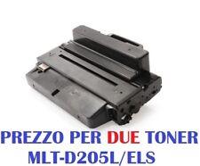 CARTUCCIA PER SAMSUNG ML-3300 ML-3310 ML-3312 ML-3710 ML-3712 X2 TONER MLT-D205L