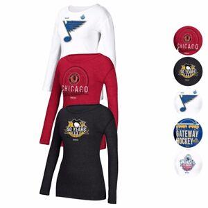 NHL Reebok Various Team Special Event Long Sleeve Crew T-Shirt Women's