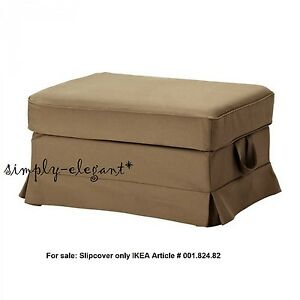 IKEA COVER for Ektorp Footstool Idemo Light Brown Ottoman Slipcover New sealed