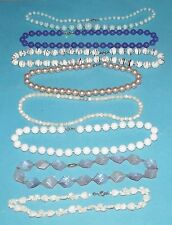 8 Necklaces Beads Multa Color White Black Turquoise Purple Pink Fashion Jewelry