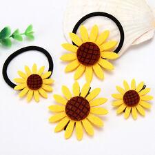 10/30Pcs Girl's Hair Accessories Sunflower Elastic Hair Bands Brooch Hair Clips