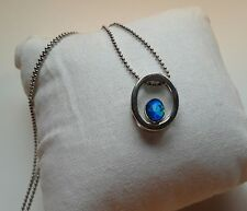 Australian Natural Black Triplet Opal Pendant Solid Silver Stamped w/Gold Plate