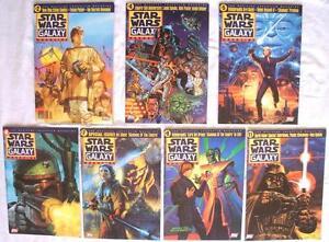 7 STAR WARS GALAXY MAGAZINES TOPPS 1995-97 # 2 4 5 6 7 9 11 NICE CONDITION COMIC
