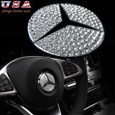 Mercedes Benz C E CLS GLC CLA Class 49mm Steering Wheel Center Rhinestone Emblem