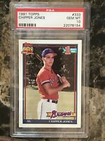 Chipper Jones 1991 Topps #333 Atlanta Braves Rookie Card - HOF - PSA 10 Gem Mint