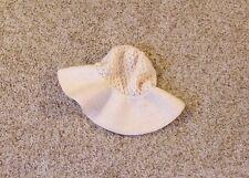 Vintage 1970s Zwicker Knitted Cream White Winter Hat floppy brim